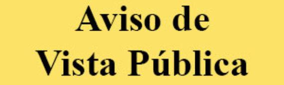 Invitación a Vistas Públicas – Departamento de Planificación, Vivienda, Programas Federales y Orientación Territorial